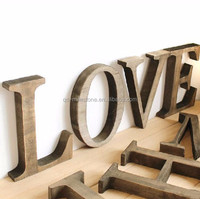 DIY 3D Words Wooden Crafts For Home Decoration