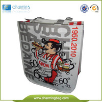 PP woven reusable shopping bag with logo