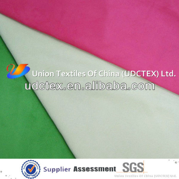 suede polyester microfiber fabric material in roll