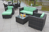 outdoor rattan luxury furniture sofa