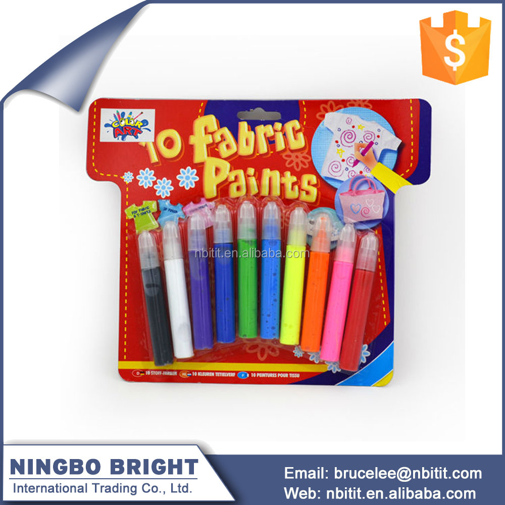 Multicolor Art Supplies 3d fabric paint set
