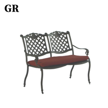 Garden Furniture Outdoor Cast Aluminum Tables And Double Seat Chairs
