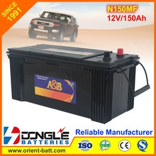 DONG LE Manufacturing Heavy Duty truck battery n150 12v 150ah