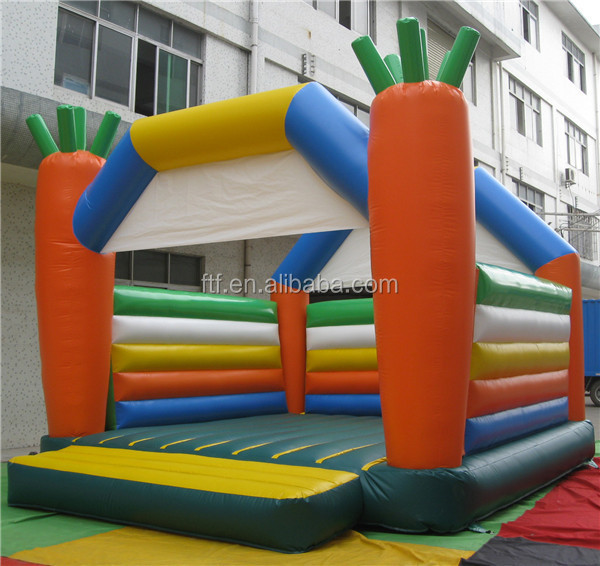 Colorful inflatable bouncy castle