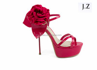 OS14 Women Suede Party Prom High Heel rose red Belt BuckleShoes Sandals 2017 fashion trends