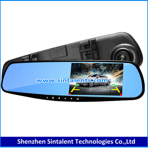 BEST SALES!!!4.3' HD Car DVR 1080P review mirror monitor with adjustable guide line