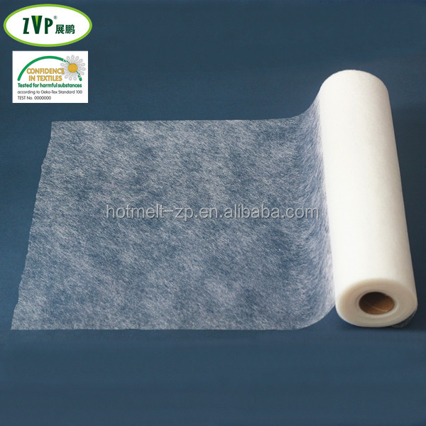 thermoplastic adhesive web with paper or without paper fusible interlining