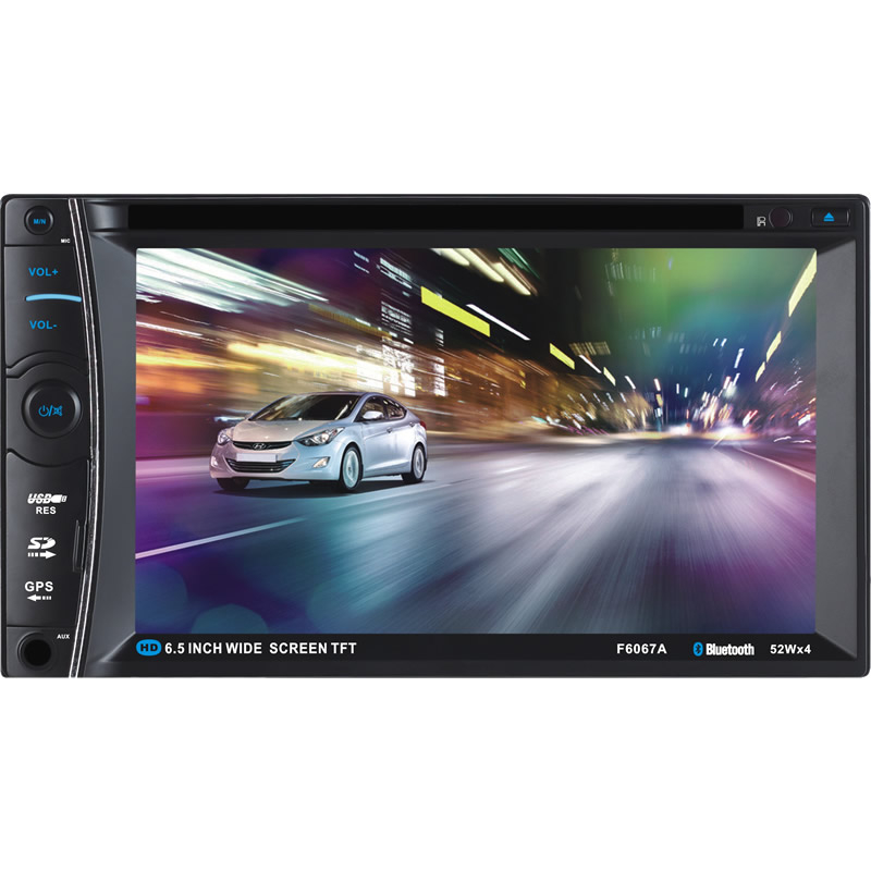 Universal 2DIN Car DVD / CD/ mp5 / Radio usb / sd / player Bluetooth Handsfree Rearview after Touch screen hd system