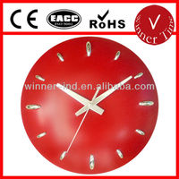 regular round shaped based standard dome embossed plastic wall clock themes