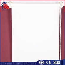 Manual corded horizontal fabric roller blinds