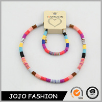 Infant cute heart pendant hip hop jewelry beads infant necklace