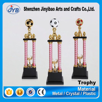 Big tall Blank black plastic base competition golden gold awards sports football plastic trophy
