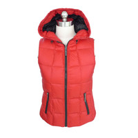 Top Quality New Design Winter Red Personalized Jacket Vest