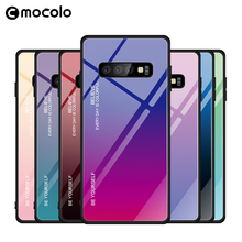 New tempered glass gradient color mobile phone protective case For Samsung S10