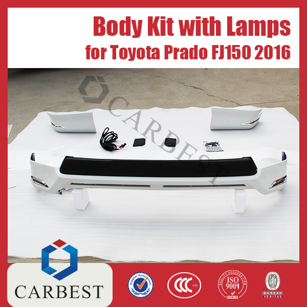 High Quality Body Kit for Toyota Land Cruiser Prado New Models FJ150 2016 With Lamp