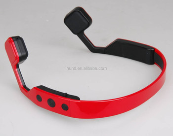 New bluetooth bone conduction neckband headset sweatproof bluetooth sport bone conduction headphone with microphone