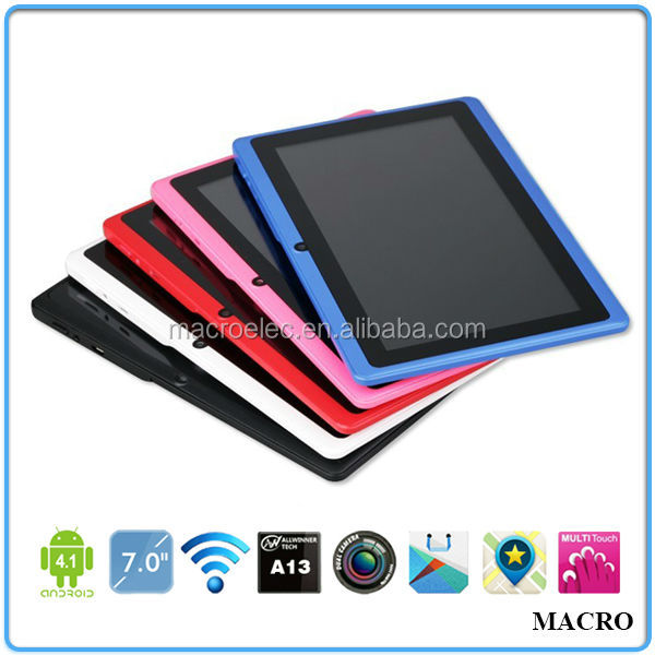 "Wholesale Cheap Allwinner A13 Q88 7"" Android Tablet"
