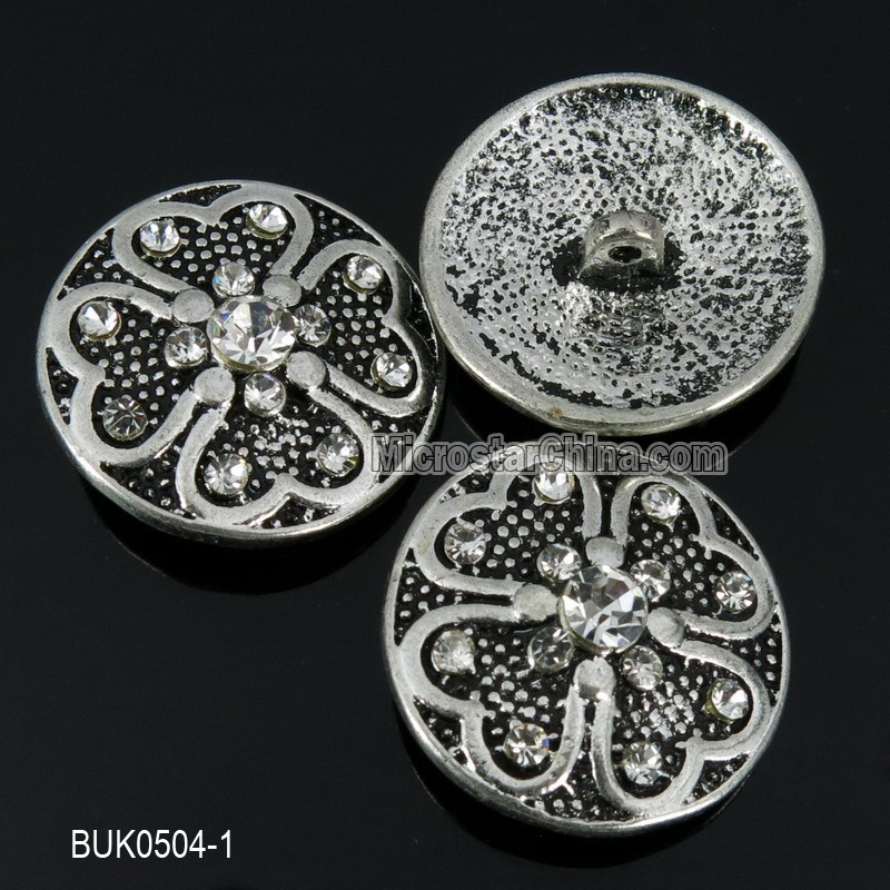 Hot sale 22mm cheap bulk rhinestone buttons for jeans