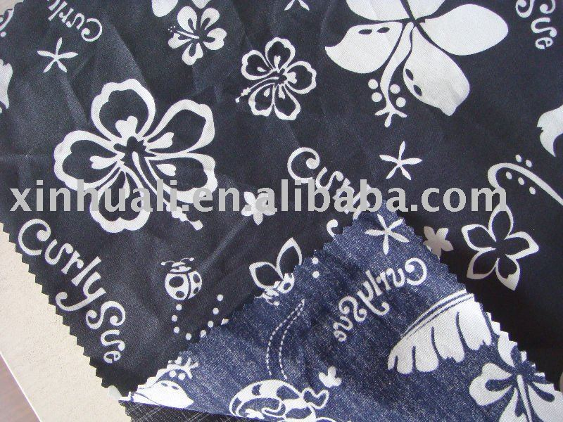 100%cotton printed fabirc with membrane