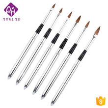6Pcs/set Detachable Acrylic Nail Art Design DIY Nail Painting Drawing Brush Pen Kit Manicure Tools