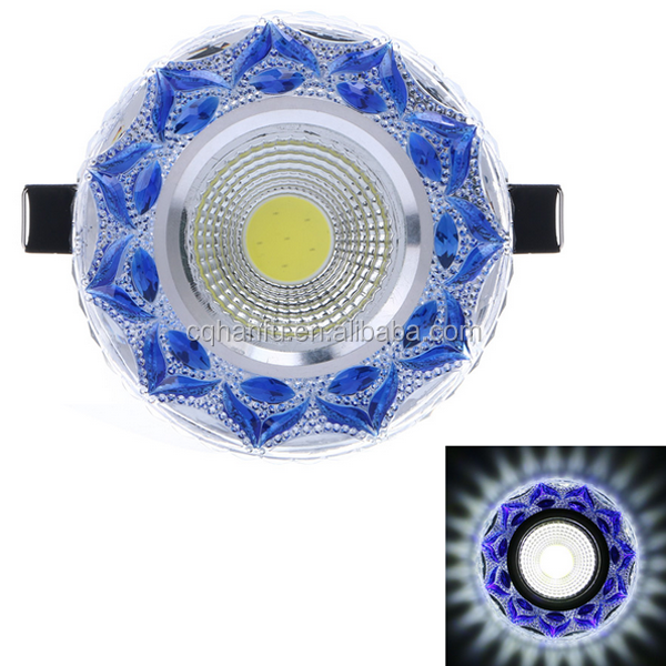 best price led light downlight 4W COB diammable 80mm crystal ceiling lamps