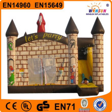 commercial lovely huge attractive inflatable bouncer and slide