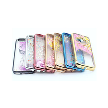 Custom Mobile Back Cover Compatible Brand Cell Hot Selling Product Body 10 Liquid Glitter Phone Case For Htc