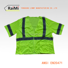 High Visibility Jacket Work Shirt Custom Reflective Clothing 3M Safety Vest