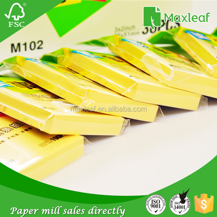 Alibaba buy now 76*76mm 75gsm colored sticky note