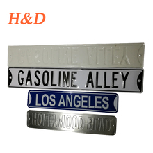 H&D Manufature Gas Oil Embossed Metal Traffic Road Sign Street Aluminum Sign