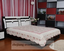 Luxury reactive printing branded print quilt cover set