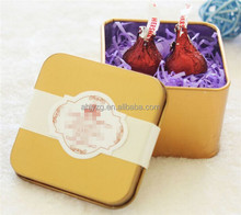 colorful metal custom wedding gift packaging box for promotion