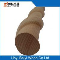 China Market 1/4 Round Beech Wood Moulding Manufacturer