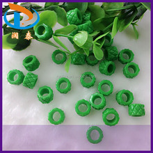 High Quality 10mm Green European Big Hole Loose Acrylic Spacer Beads