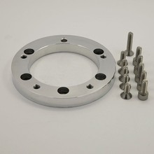 "China Hot Sales 0.5"" Polished Billet Conversion Spacer for 5 bolt Steering Wheels change to 6 bolt Hub Adapter"