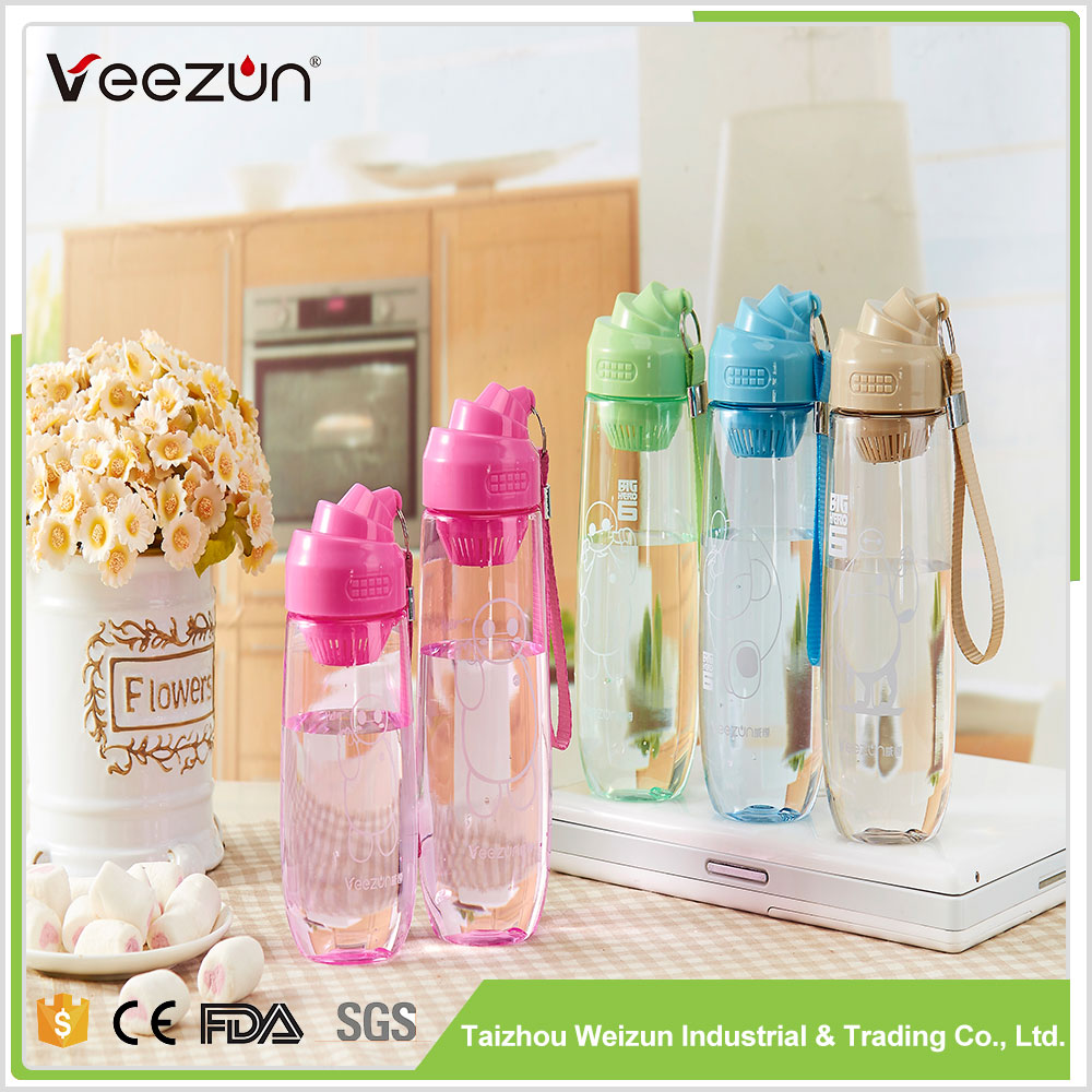 2017 New deisgneco-friendly pc water bottle custom logo wholesale popular sports water bottle pc