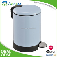 Soft close metal foot pedal stainless steel trash can rubbish bin for bathroom