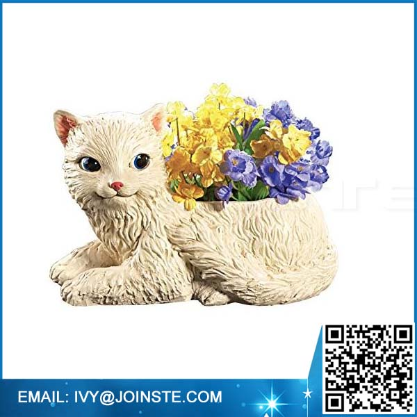 Garden decoration flower planter resin cat shape planter flower planter pot