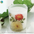 top1 assurance factory supplier decal glass candle holders with logo yufeng craft
