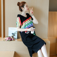 NS1421 latest new fashion women maternity pregnant t shirt dress