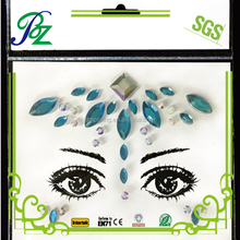 Adhesive custome makeup eyeliner sticker face jewels