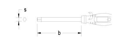 Titanium metric ball point Hexagonal Screwdriver