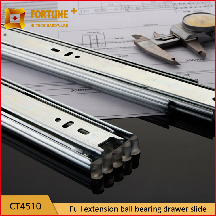 Jieyang factory ball bearing telescopic wooden drawer guides