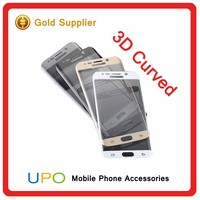 [UPO] 2016 new products Ultra Thin Clear Full Curved Tempered Glass Cell Phone Screen Protector for samsung s6 edge