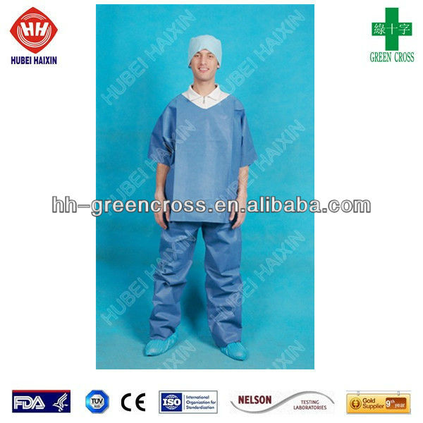 Disposable Medical SMS Medical Scrub Suit Uniform
