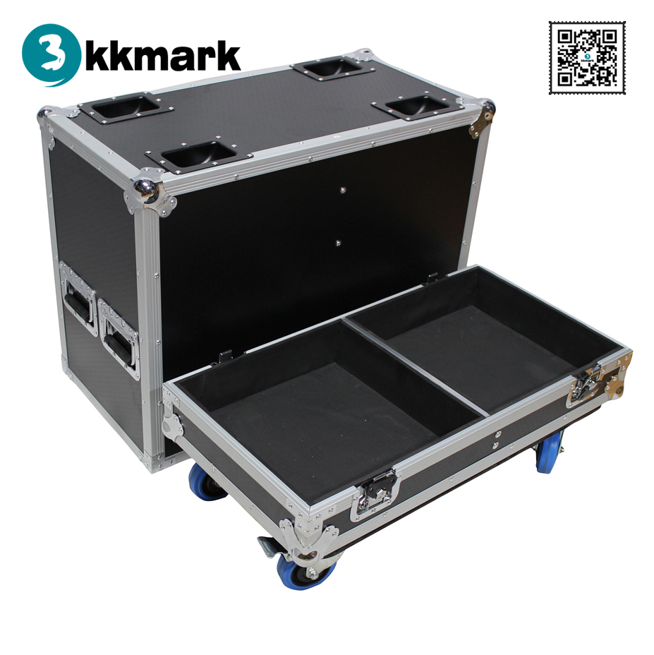 Kkmark Fits 2x RCF SUB 8005-AS Subwoofer Flight Case with 4 inch Wheels