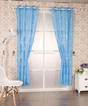 polyester burn out sheer curtain drapery
