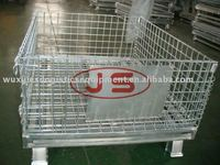 Europe standard collapsible and stackable mesh cage