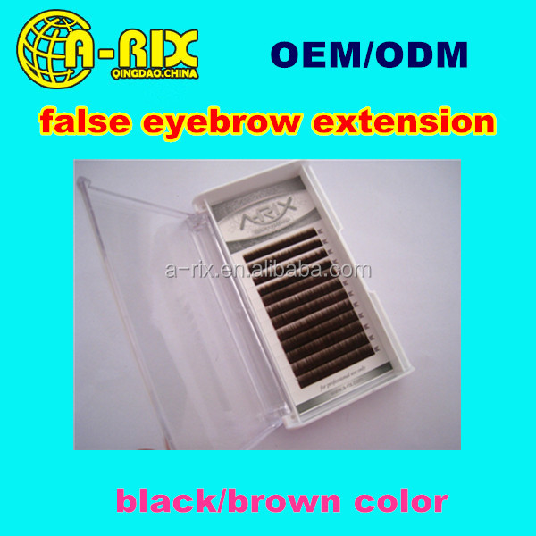 hand made dark brown eyebrow lash/private label false eyebrow extension
