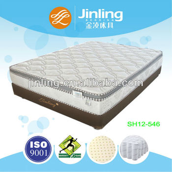 Pocket Coil Spring Mattress with natural latex foam topper